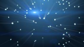 Fond bleu abstrait avec les diamants en baisse illustration stock