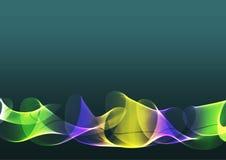 Fond bleu abstrait avec les rubans colorés Images libres de droits