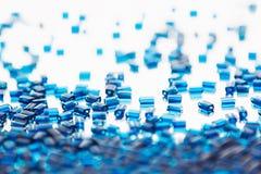 Fond bleu abstrait avec un modèle de mosaïque Photo stock