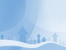 Fond bleu abstrait d'affaires Photo stock