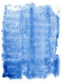 Fond bleu abstrait d'aquarelle Photo libre de droits