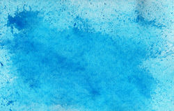 Fond bleu abstrait d'aquarelle Photos stock
