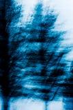 Fond bleu abstrait d'arbre Image libre de droits