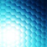 Fond bleu abstrait d'hexagone illustration libre de droits