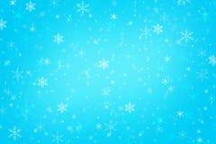 Fond bleu abstrait d'hiver de Noël Images stock