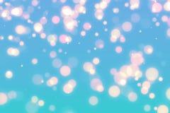 Fond bleu abstrait de bokeh Photo stock