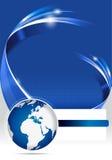 Fond bleu abstrait de brochure pour la société Image stock