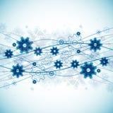 Fond bleu abstrait de calibre d'affaires de technologie de vague illustration de vecteur