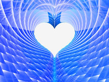 Fond bleu abstrait de coeur Photographie stock