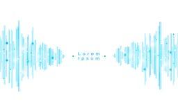 Fond bleu abstrait de concept de vague de modèle de rectangle de vecteur Images libres de droits