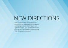 Fond bleu abstrait de flèches avec le copyspace illustration libre de droits