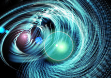 Fond bleu abstrait de fractale Image libre de droits