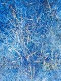 Fond bleu abstrait de glace de l'hiver Photos libres de droits