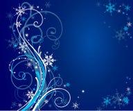 Fond bleu abstrait de l'hiver Images libres de droits