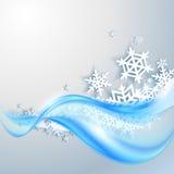 Fond bleu abstrait de l'hiver Photographie stock libre de droits