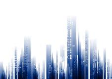 Fond bleu abstrait de la géométrie de technologie illustration de vecteur