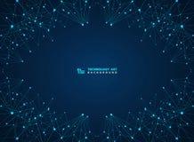 Fond bleu abstrait de lasers de ligne numérique de technologie Vecteur eps10 d'illustration illustration de vecteur