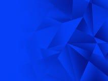 Fond bleu abstrait de modèle de la géométrie Photos stock