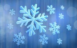 Fond bleu abstrait de neige Photo stock