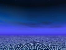 Fond bleu abstrait de réseau illustration libre de droits