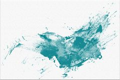 Fond bleu abstrait de tache d'aquarelle d'aspiration de main illustration libre de droits