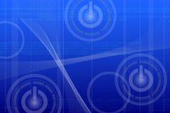 Fond bleu abstrait de technologie images stock