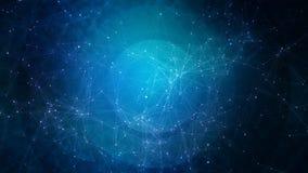Fond bleu abstrait de technologie, d'affaires ou de science illustration stock