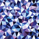 Fond bleu abstrait de triangle de couleur Images stock