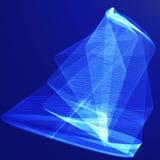 Fond bleu abstrait de vecteur Image libre de droits