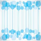 Fond bleu abstrait en verre de vin Images libres de droits
