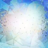 Fond bleu abstrait, vecteur de conception de triangle Photos libres de droits