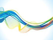 Fond bleu artistique abstrait de vague illustration de vecteur