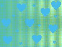 Fond bleu avec des coeurs Images libres de droits