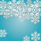 Fond bleu avec des flocons de neige Photographie stock libre de droits