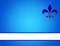 Fond bleu avec des insignes Photo libre de droits