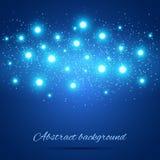 Fond bleu avec des lumières Photographie stock