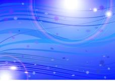 Fond bleu avec des lumières Images stock