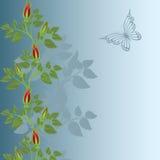 Fond bleu avec des roses illustration libre de droits
