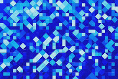 Fond bleu avec l'effet de Blockify Photographie stock libre de droits