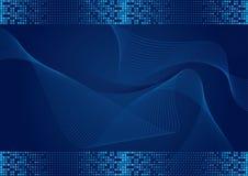 Fond bleu avec l'effet tramé illustration de vecteur