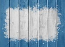 Fond bleu avec le centre blanc Images libres de droits