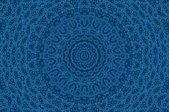 Fond bleu avec le modèle abstrait Photos libres de droits