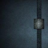 Fond bleu avec le sceau gravé en relief élégant Photographie stock libre de droits