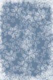 Fond bleu avec les flocons de neige blancs Images libres de droits