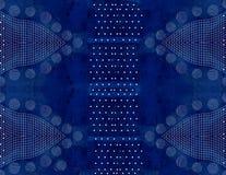 Fond bleu avec les lignes blanches et l'attraction Photographie stock