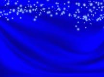 Fond bleu avec les lignes ondulées Images stock