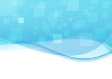 Fond bleu avec les vagues transparentes Photographie stock libre de droits