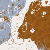 fond Bleu-blanc-brun Images stock