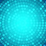 Fond bleu circulaire abstrait Images libres de droits