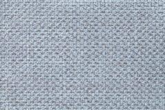 Fond bleu-clair de textile avec le modèle à carreaux, plan rapproché Structure du macro de tissu Photo stock